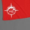 Ahoi Plünn Shop Legebild T-Shirt für Frauen mit dem Seezeichen 'Heulboje' in rot von hinten