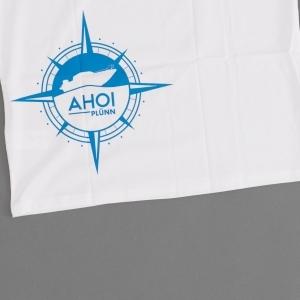 """Ahoi Plünn Shop T-Shirt """"VOGELSCHUTZGEBIET von hinten"""""""