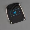 Der Ahoi Plünn Seesack in schwarz mit dem Seezeichen Vogelschutzgebiet in blau