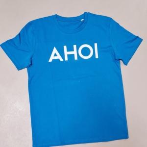 Ahoi Plünn T-Shirt mit Ahoi Schriftzug in blau